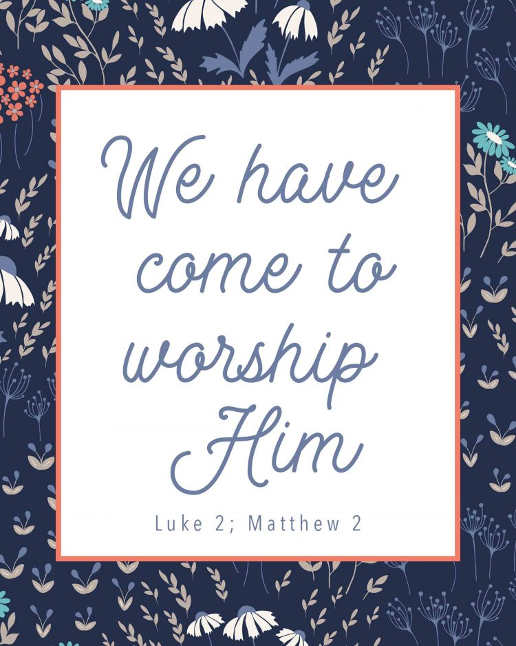 Luke 2 Matthew 2 Primary Lesson Helps-We have come to worship him