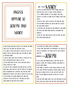 Primary Lesson Helps-Matthew 1; Luke Story of angel Gabriel Printable booklet handout