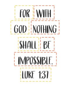 Primary Lesson Help-Matthew 1; Luke 1-With God nothing is impossible-Scripture Memory Game!