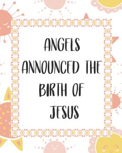 Primary Lesson Helps-Matthew 1; Luke 1 angels announce the birth of Jesus