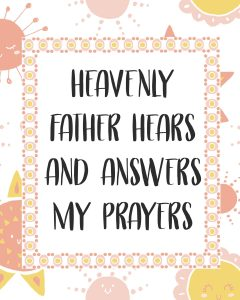 Primary Lesson Helps-Matthew 1; Luke-Heavenly father answers my prayers