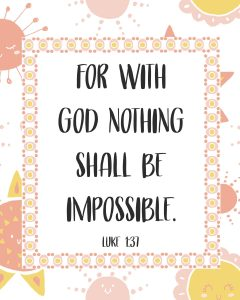 Primary Lesson Help-Matthew 1; Luke 1-With God nothing is impossible