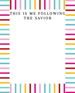 Primary Coloring Page-This is me following the savior coloring page