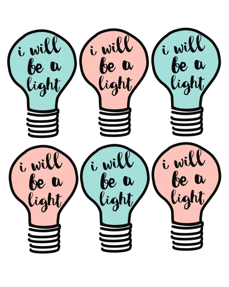 Blessed are the Peacemakers-I will be a light printable