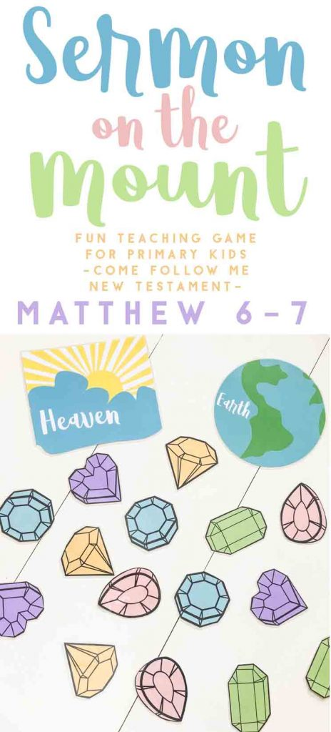 Sermon on the Mount-Primary Come Follow Me-Lesson help