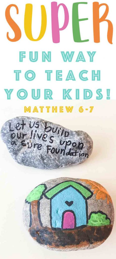 The Wise mand and the foolish man-lesson-Fun rock painting activity to teach kids the lessons in the scriptures