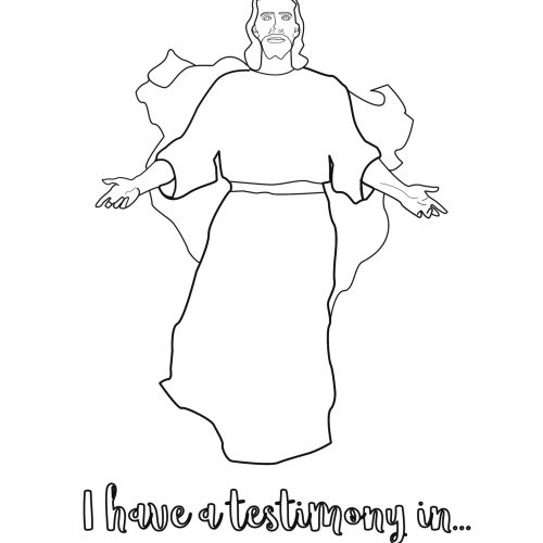 April 1-14 Come Follow Me New Testament Coloring page