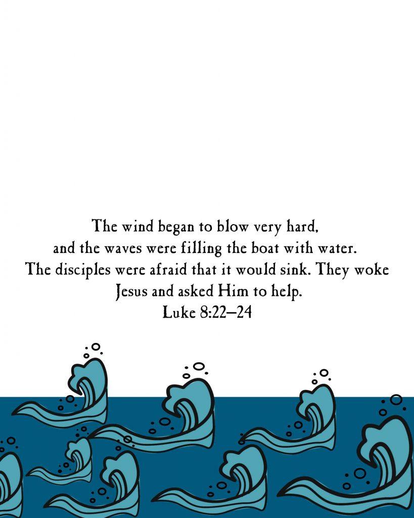 Jesus Calms the Storm For kids