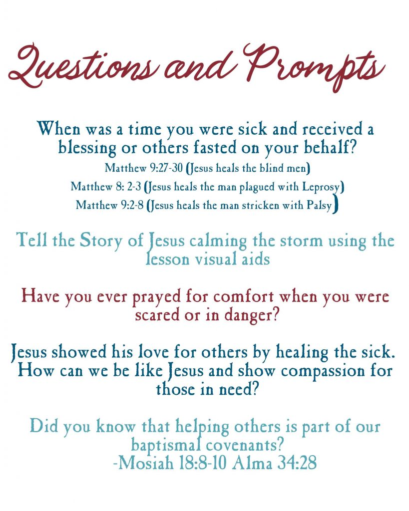 Jesus Clams the Storm-Questions and Prompts to lead a meaningful discussion
