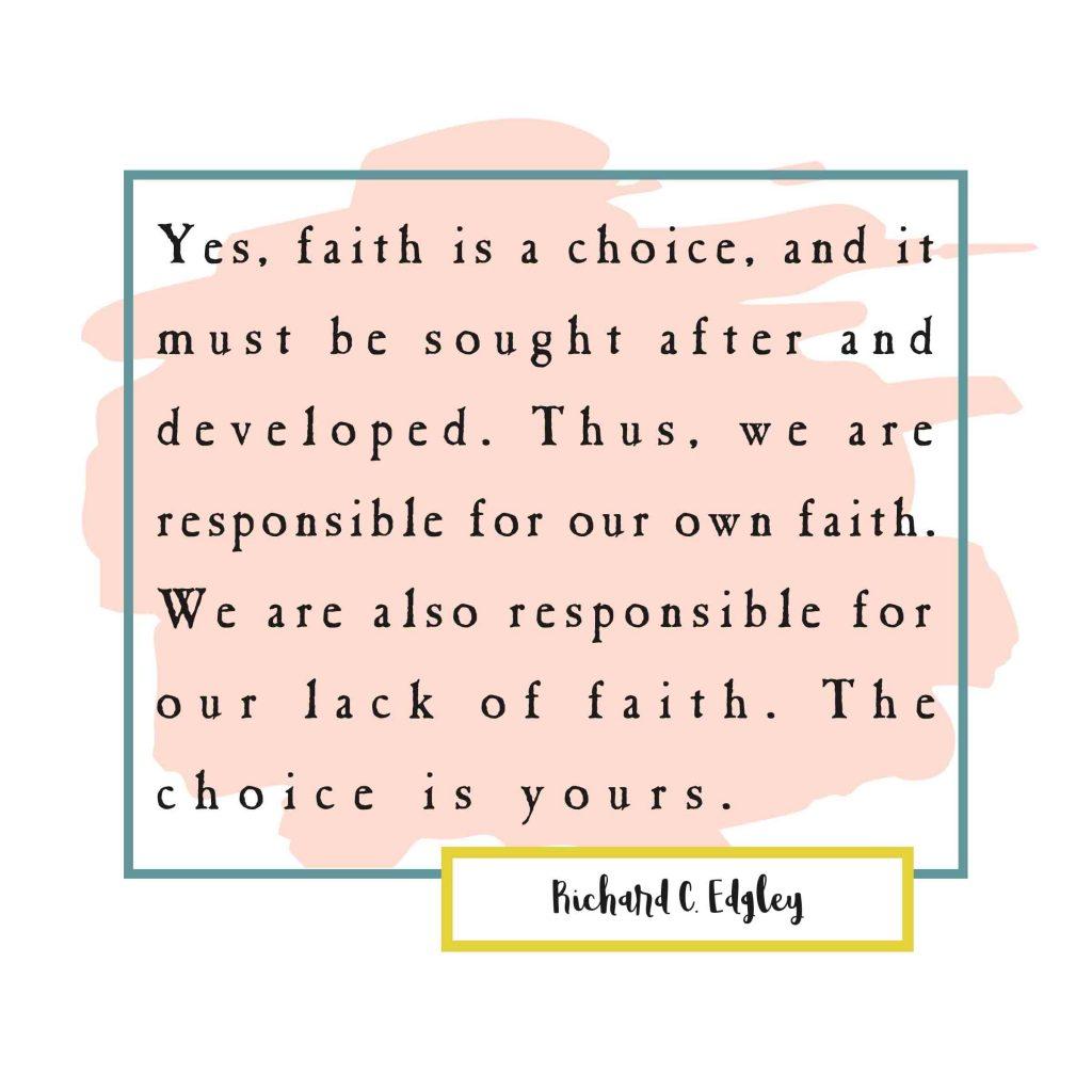 April 1-14 Come Follow Me ideas-Faith Quote