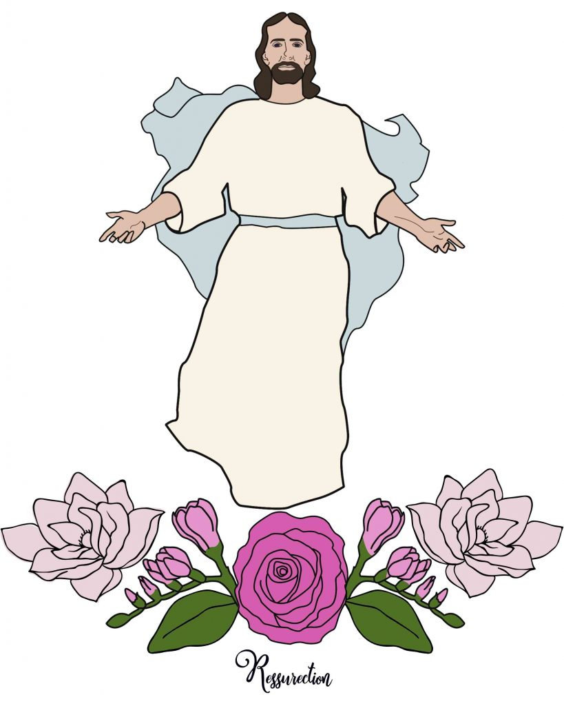 Jesus Is resurrected Easter story coloring page