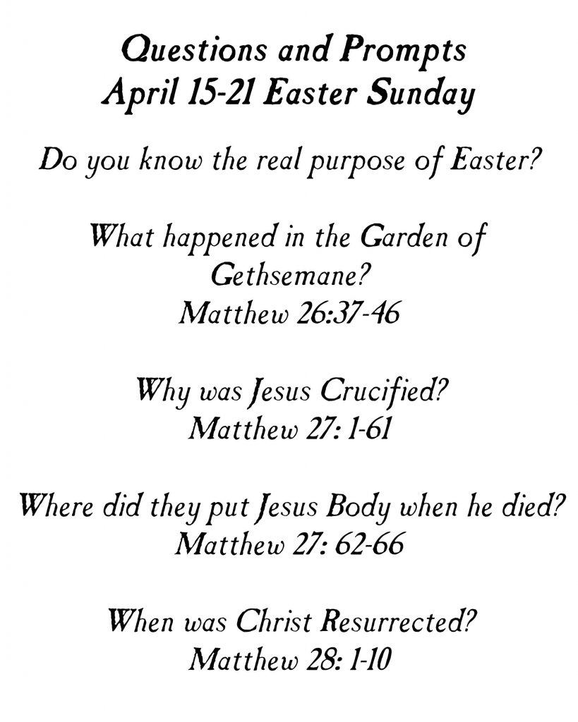 Come Follow Me Primary Lesson Easter