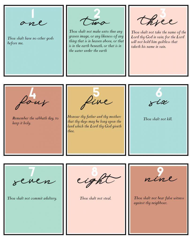 the Ten Commandments for kids primary new testament lesson