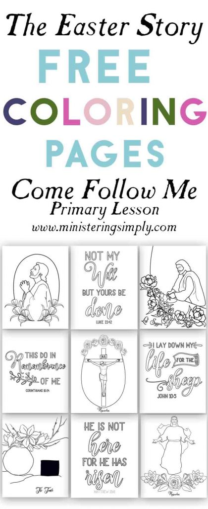 The Easter Story-Free Easter Coloring Pages