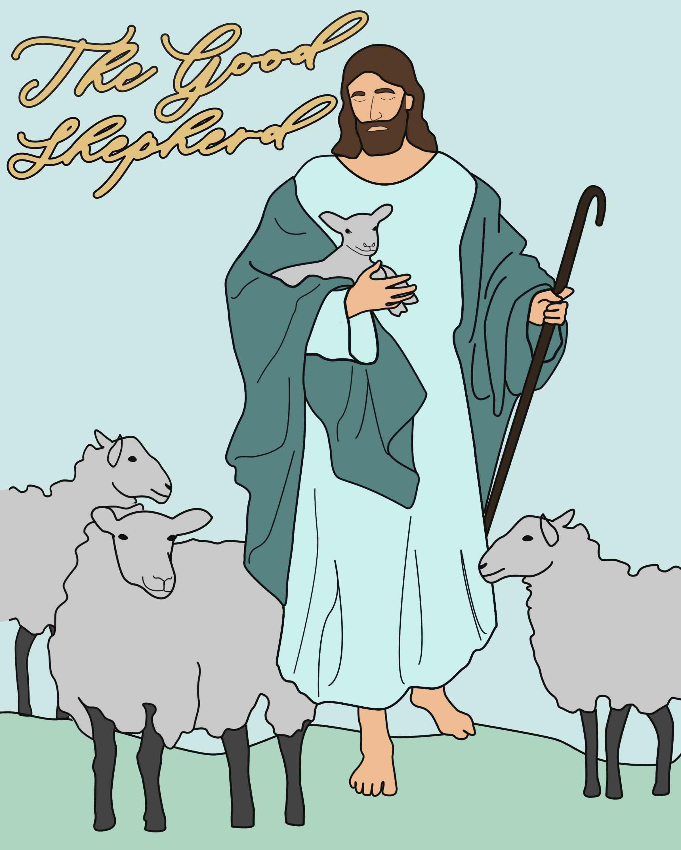The Good Shepherd Story-Come Follow Me-April 29-May 5th-John 7-10 ...   3000x2400