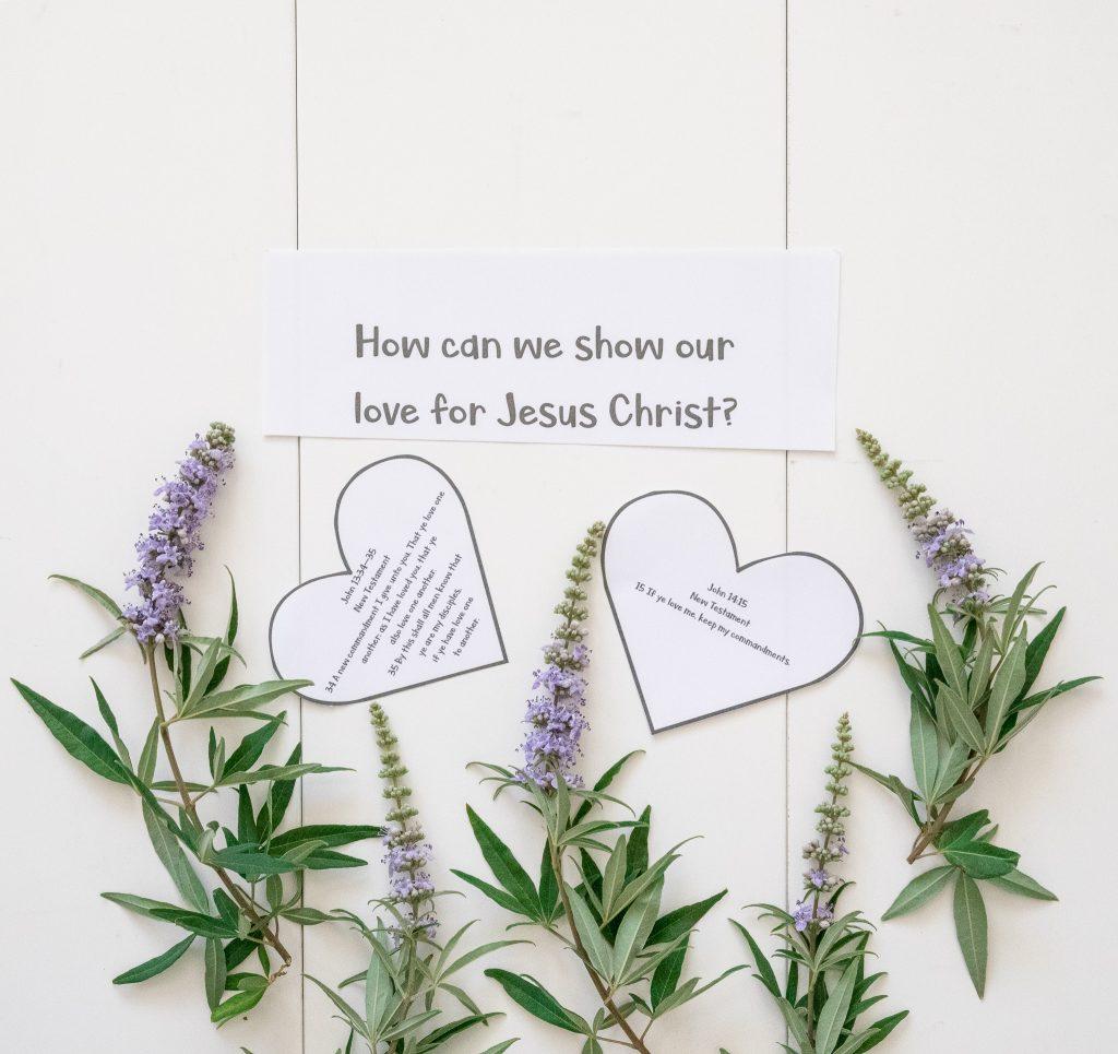 John 15:14- Free Printable-If you love me keep my commandments-Come Follow Me Lesson Idea