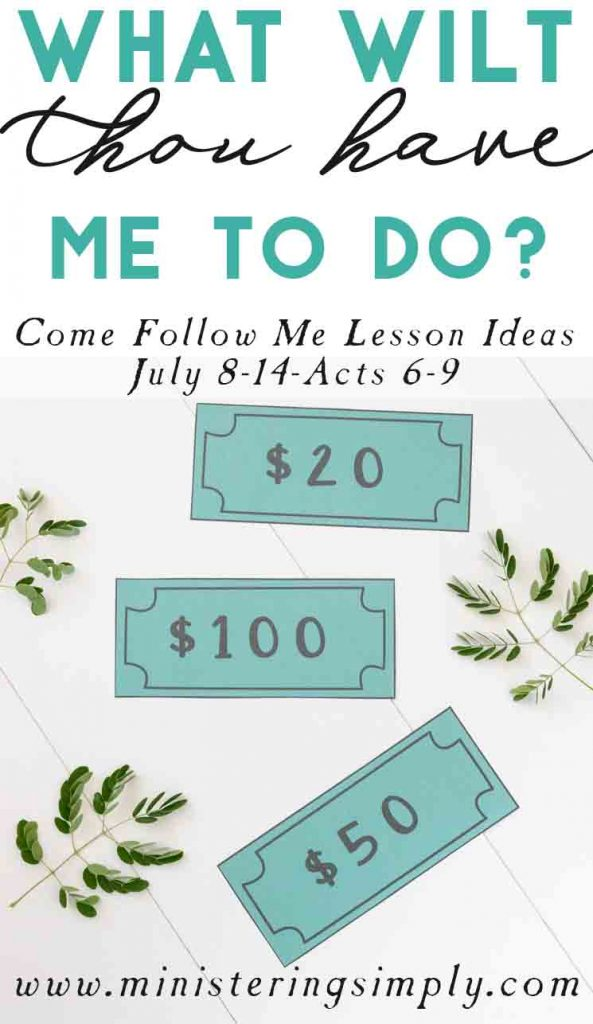 What Wilt Thou Have Me to Do? Primary Lesson Helps-July 8-14
