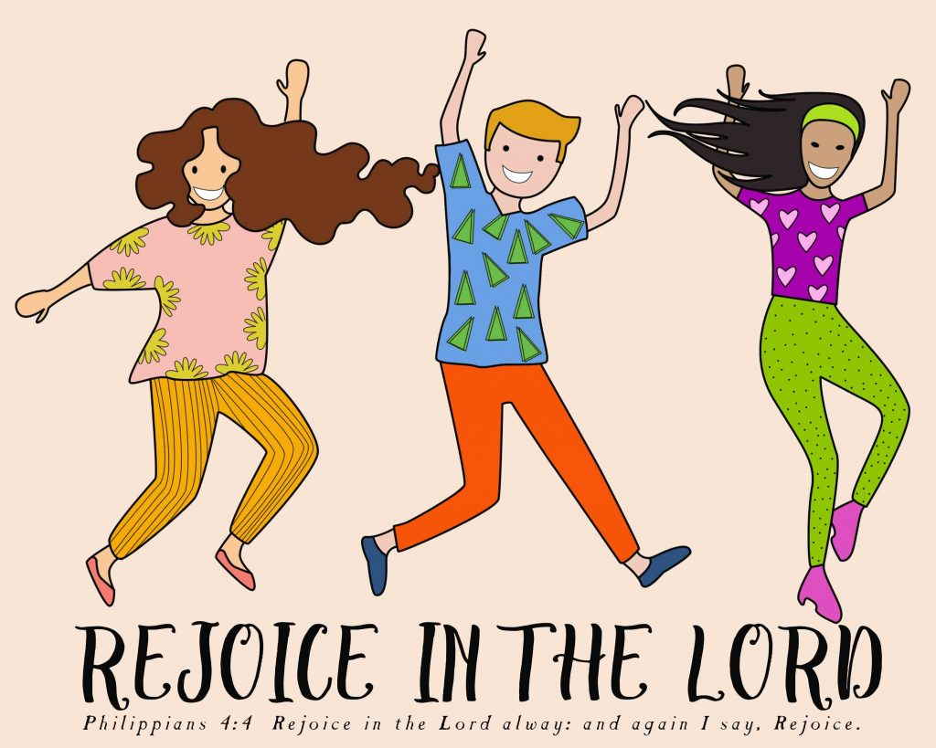 """Rejoice in the Lord illustration: I can do all things through Christ which strengtheneth me"""""""