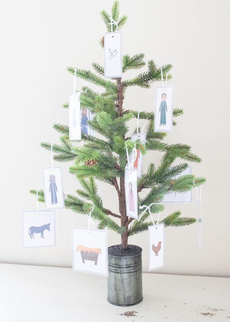 Christmas Bible Verses Advent Calendar ornaments free printable