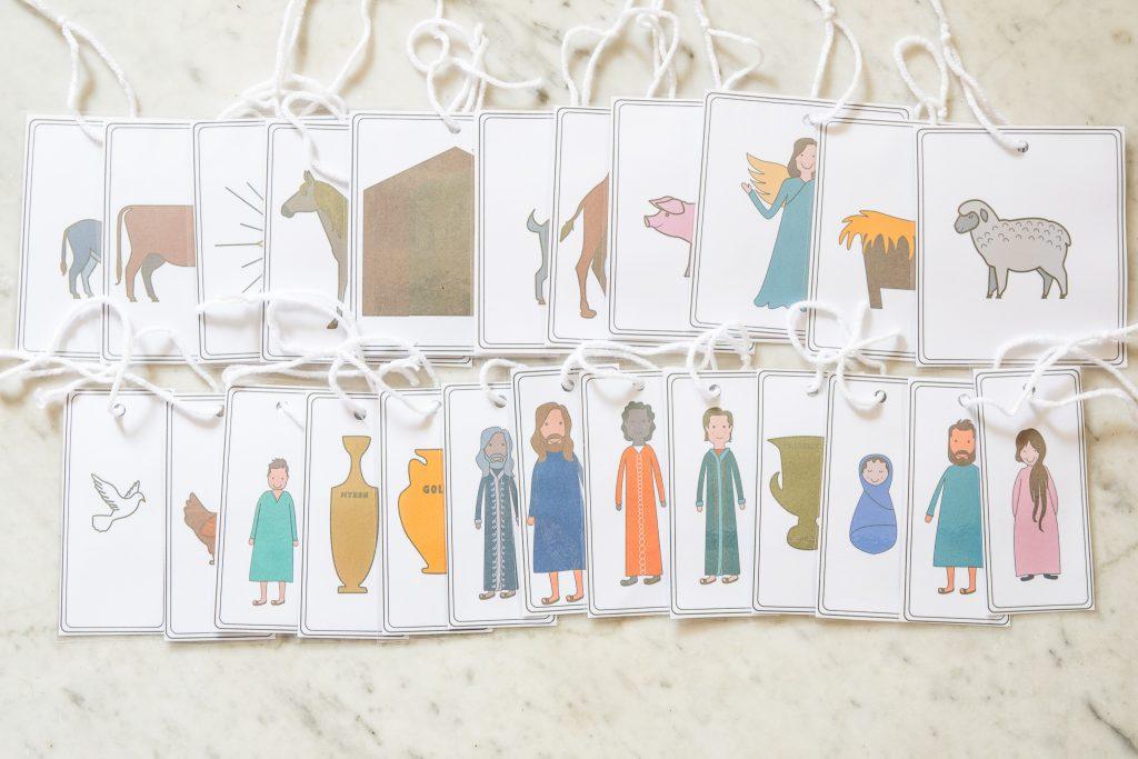 Light the world Nativity Ornaments Christmas Bible Verses