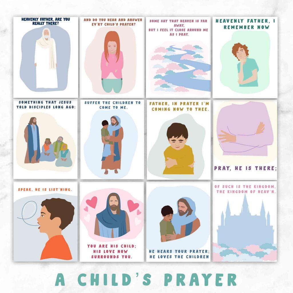 Childs prayer chorister illustrations