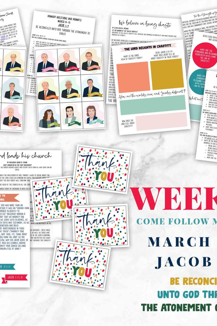 Be Reconciled unto God-Week 10 Come Follow Me Helps for Family-Primary and Sunday School