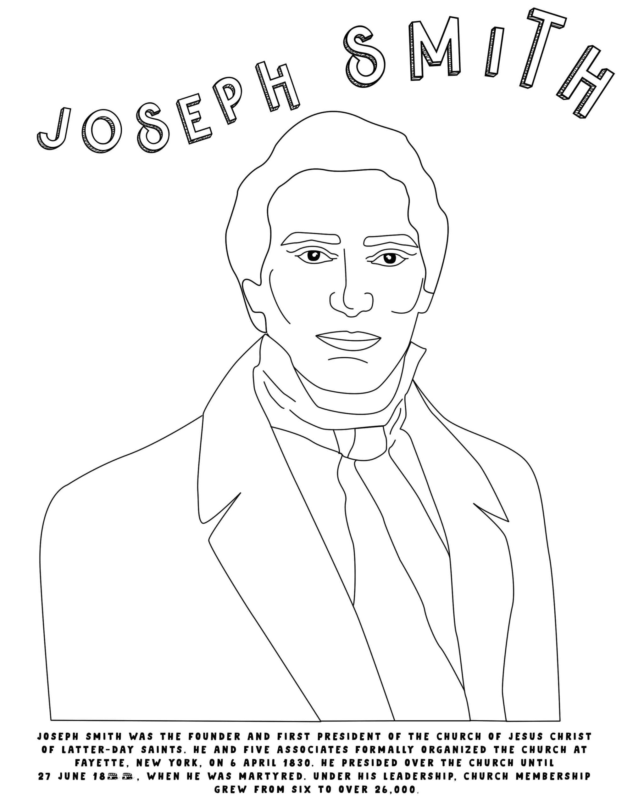 Joseph Smith Coloring Pages - Coloring Home   2560x2048