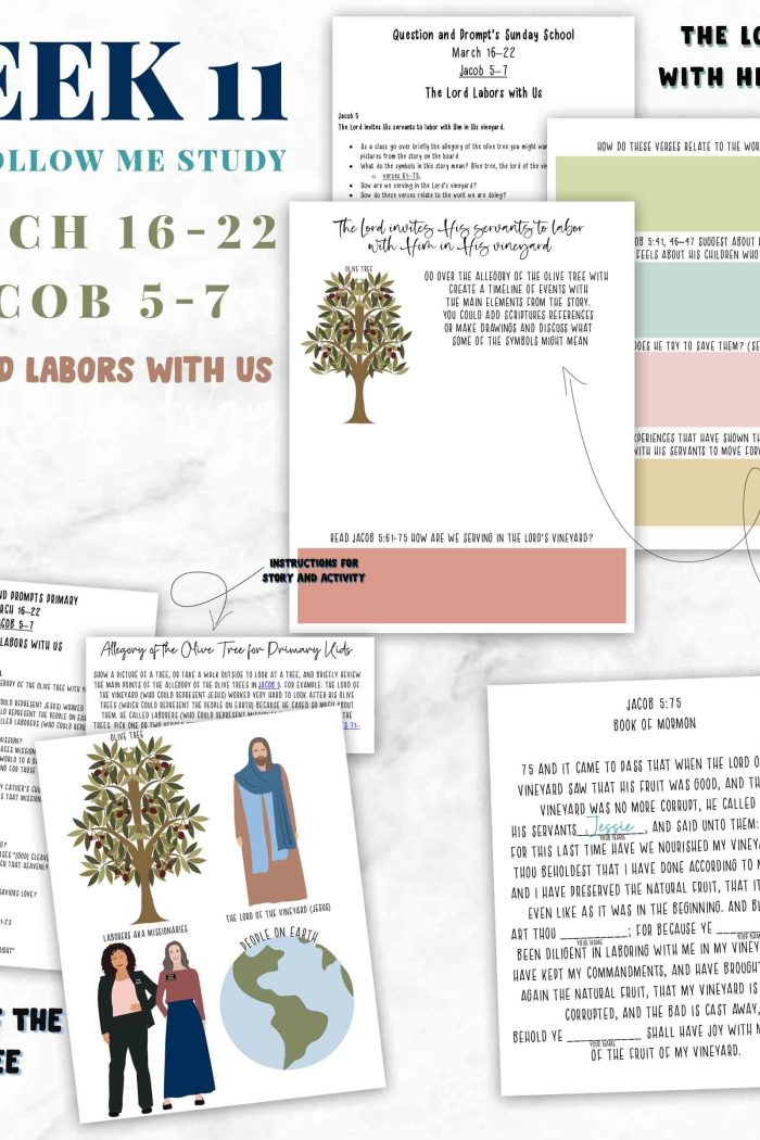 The Lord Labors With Us-Week 11 Come Follow Me Lesson Helps for -Families-Sunday School and Primary