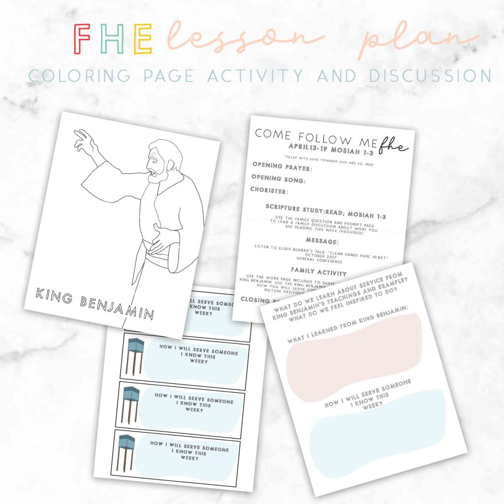 FHE lesson ideas-Filled with Love towards God and All Men