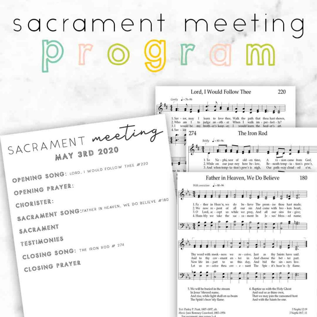 In the Strength of the Lord sacrament meeting program